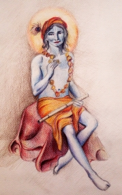 Krishna with flower