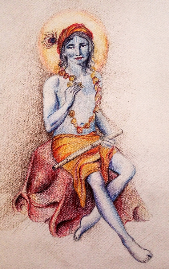 Krishna with flower